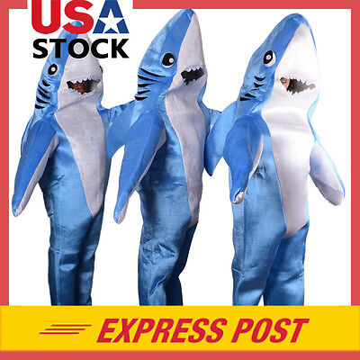 Shark Costume Adult Halloween Attack Animal Party Kids Cosplay Funny Suit HOT