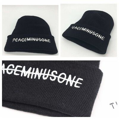 Kpop Bigbang GD G Dragon FXXK IT Peaceminusone Black Knit Hat Beanie Hat Unisex