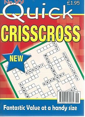 3 Quick Criss Cross Magazines Most With 70+Puzzles With Answers Set (62) New
