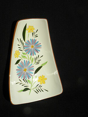 """Vintage Stangl """"Country Garden"""" Footed Relish Dish, #3943"""