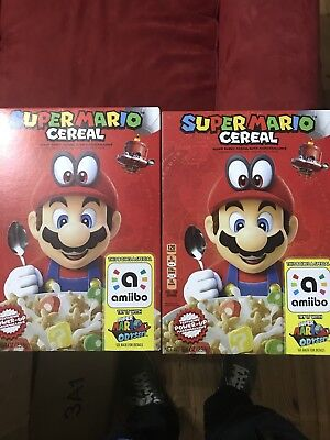 Super Mario Odyssey Cereal Limited Edition Nintendo Amiibo Priority Ship Fast