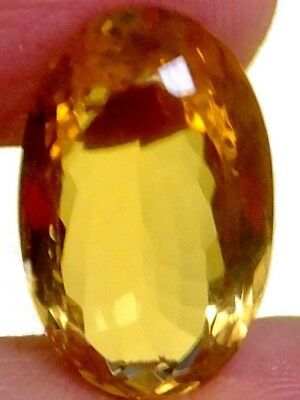NATURAL CITRINE GEMSTONE LARGE LOOSE OVAL CUT 21.5 x 13 mm UNUSUAL GOLDEN-YELLOW