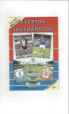 Everton v Southampton FA Cup Semi Final 1984 Football Programme @ Arsenal