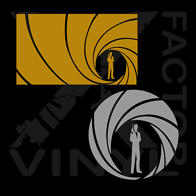 2 shapes! Bond, James Bond round vinyl decal 14 colors FastFreeShip 007 spectre