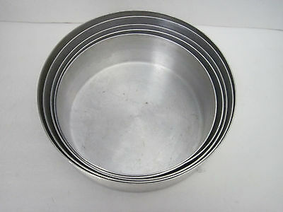 Set of Five Heavy-Duty Round Tiered Cake / Baking Pans