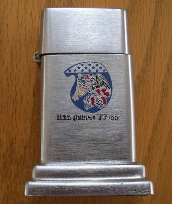 Rare Vintage  Barcroft Zippo Table Lighter Military Uss Patterson Ff 1061
