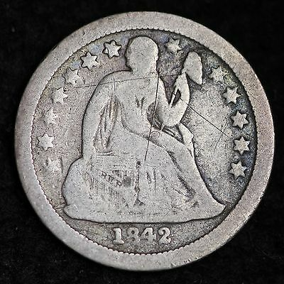 1842-O Seated Liberty Dime CHOICE VG  FREE SHIPPING E260 CB