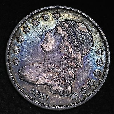 1831 Capped Bust Quarter CHOICE XF+ GREAT COLOR! FREE SHIPPING E187 CHT
