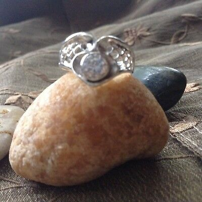 HAUNTED WICCA .Genuine .925 Deinty Crystal Stone Ring ~ SIZE 6