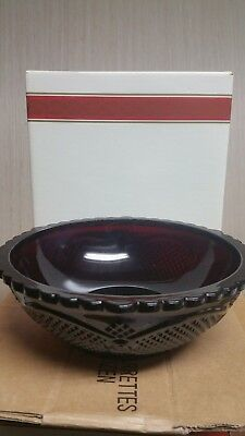 """Avon 1876 Cape Cod Collection Ruby Red - Serving Bowl w/Box (8.5"""" diameter)"""