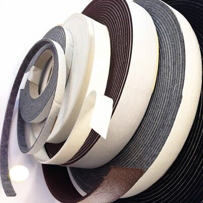 2 mm - 7 mm Self-Adhesive Felt Furniture Pad Roll Felt Strip 14 Colors 5m