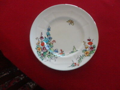 Crown Staffordshire Hand Painted Floral Side Plate C1930