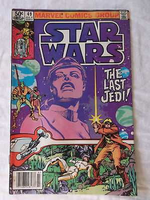 """Star Wars #49 """"The Last Jedi"""" (Marvel, 1981)   (see pictures - water staining)"""