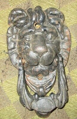 Vintage Lion Head Door Knocker Made In Taiwan
