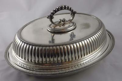 Vintage WMF Germany Silver Plate Mid Century Oval Covered Dish Serving Bowl