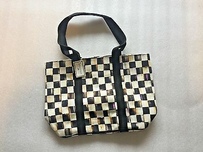 Mackenzie Childs Courtly Check Tote- Medium