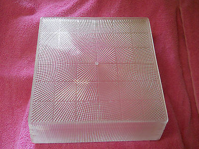 Vintage NOS Holophane No. 866-D 10 in. Square Replacement Lamp Cover