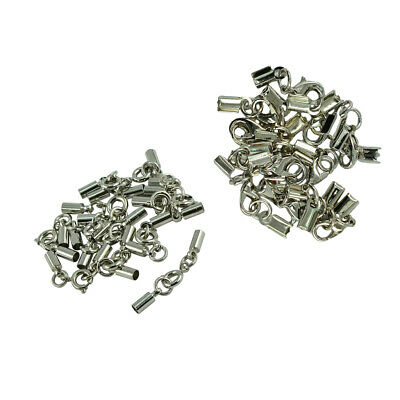24 Sets Smooth Cord End Crimps Finding DIY Jewelry Design Making Findings