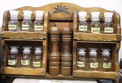 Gail Craft Spice Rack 12 Spice Jars/salt& Pepper<>Japan