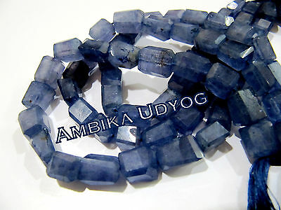 AAA Quality Natural Iolite Tumbled Shape Beads , Size 9 to 13mm , Length 10 inch