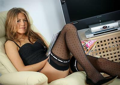 F1 Jennifer Aniston #3 in stockings A4 borderless glossy photo