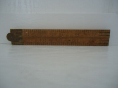 "Vintage Stanley No. 61 Boxwood 24"" Folding Rule"