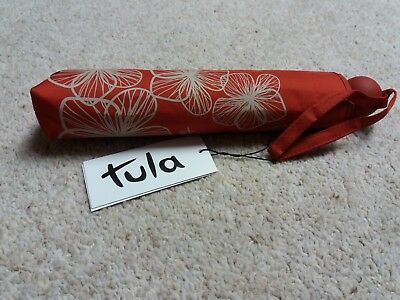 New & Tagged Tula Umbrella, Red, Will fit in a Handbag