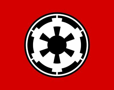 STAR WARS IMPERIALE FLAGGE / IMPERIAL FLAG 90 x 150 CM
