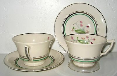SYRACUSE Winchester Coralbel Cup Saucer Set of 4 Mint