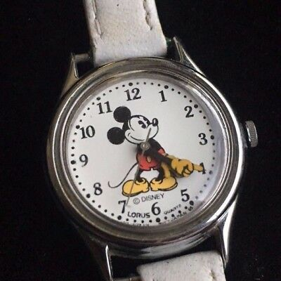 LADIES Disney Mickey Mouse Watch LORUS NEW BATTERY WHITE FACE