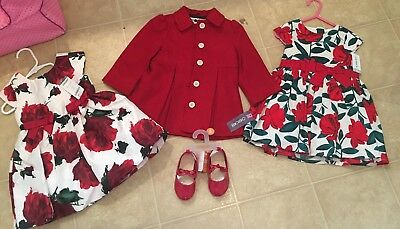 Baby Toddler Girls Gymboree Carter's Dress & Shoes Lot Size 18-24 Months BNWT