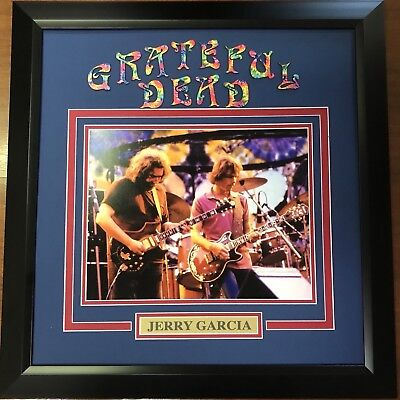 Framed The Grateful Dead 11x14 Photo Jerry Garcia Professionally Matted