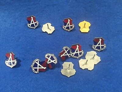 Lot of 13 Vintage USAF 1001ST Air Base Wing Pins - NO CLUTCHES INCLUDED