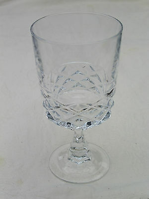 Cristal D'Arques or J G Durand DIAMOND Water Goblet; French Lead Crystal; 6 ¼""