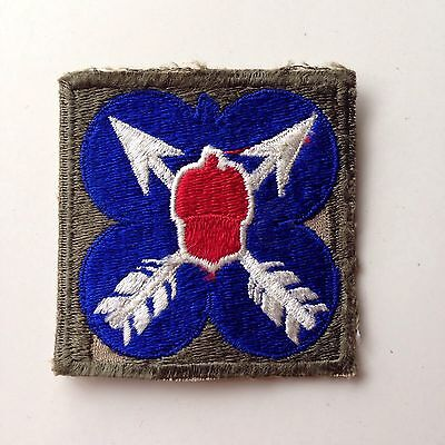 WWII US Army 21st Corps Cut Edge Shoulder Patch Snow back No Glow