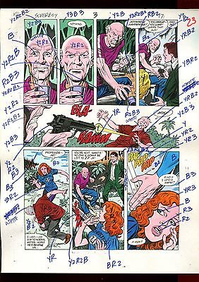 Superboy 3 Volume 2 Page 17 Color Guide-Original Art-1 Of A Kind-Jurgens-Mooney
