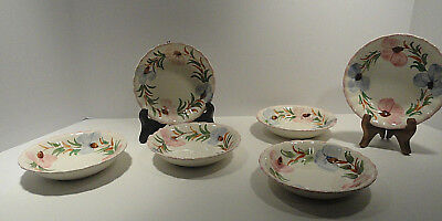 Blue Ridge Southern Potteries Berry / Dessert Bowls Set of Six