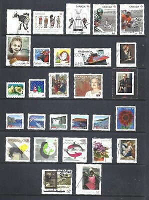 Canada SELECTION OF 28 DIFFERENT RECENT STAMPS USED (BS10732)
