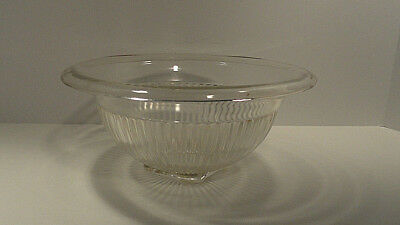 Federal Glass Clear Ribbed Mixing Bowl