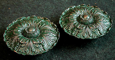 """Extra Large Pair Sheryle Wagner or Guerin HOLLYWOOD Door Knobs 7 1/2"""" Reclaimed2"""