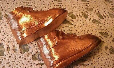 Adorable Vintage Brass Dipped Baby Shoes!