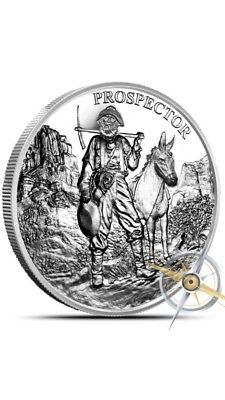 1 Troy Oz .999 Fine Silver Round-Provident Prospector Coin-NEW - Bullion UNCIRC