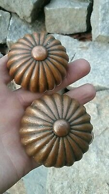 Antique  Collectible entry and Passage old Eastlake Cast Bronze  Door Knobs