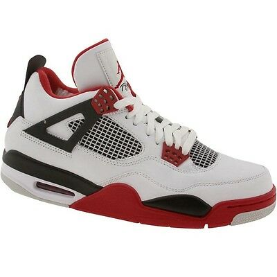 308497-110 2012 Nike Air Jordan IV 4 Retro Mars White Varsity Red 308497-110