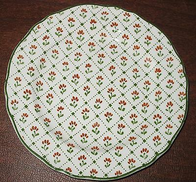 """J & G Meakin Montpelier Country French Ironstone 8"""" Salad Plate Brown Green"""
