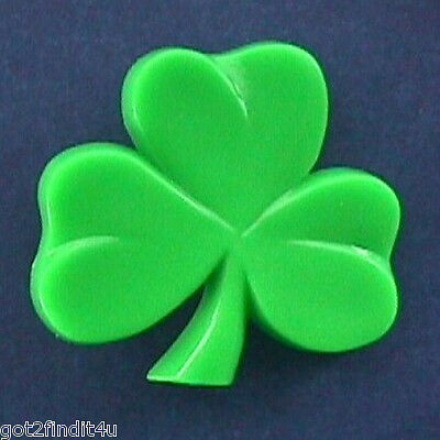 BUY1&GET1@50%~PIN St Patrick SHAMROCK Large Lucky Vtg Holiday Jewelry Brooch