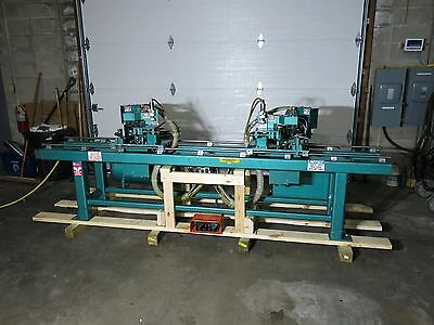 KVAL Dual Head Brick Mold Miter Drill Pneumatic Automated Video Nice