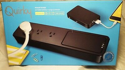 Quirky Pickup Power Portable Battery 4000mah  & Surge Protector W/3 outlets
