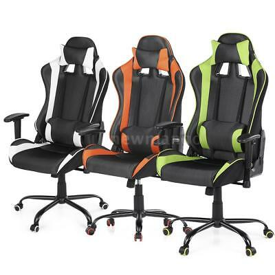 Executive Gaming Racing Chair Reclining Computer Chair High Back Office H1I7