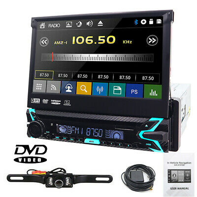 "Sony Lens Single 1Din 7""Car Stereo Radio DVD Player  Bluetooth GPS NAavigation"